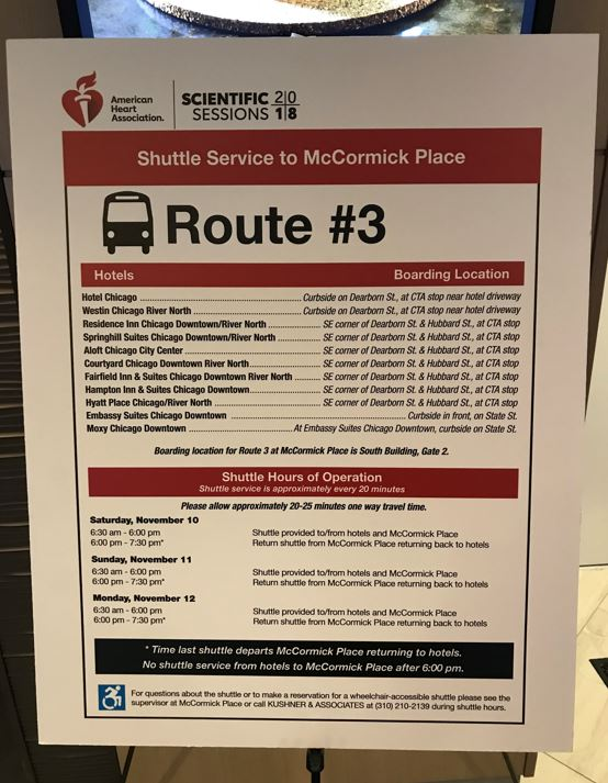AHA2018へのシャトルバス