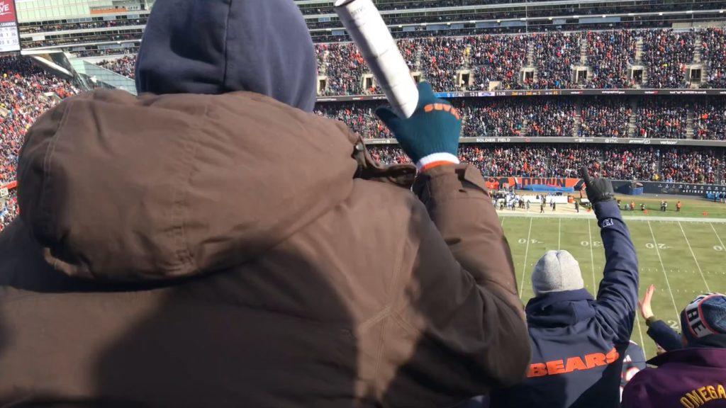 ソルジャー・フィールドでシカゴ・ベアーズの試合